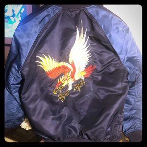 Gap Embroidered Bomber Jacket - NWOT - Medium